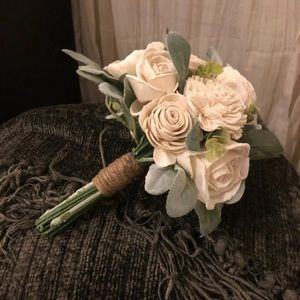 Other - Sola Wood Flower Bouquet And boutineers